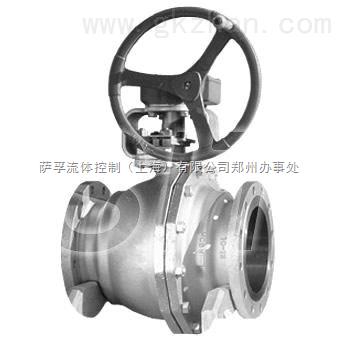 KITZ-G-300UTR法兰不锈钢涡轮球阀
