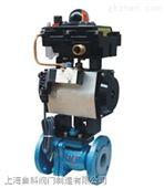 Q641F46蒸汽气动衬氟球阀,导热油耐酸碱气动球阀、耐腐蚀气动阀门,上海阀门厂家