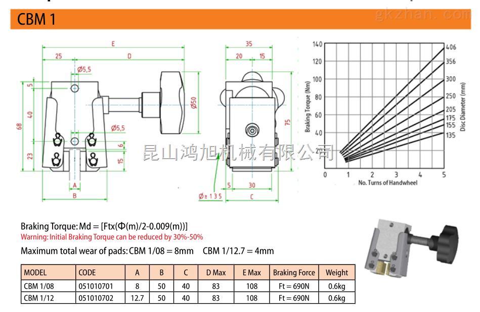 进口icp盘式气动液压制动器型号
