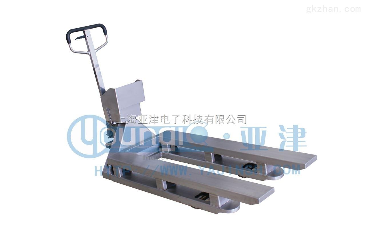 YCS-2吨不锈钢叉车秤食品行业叉车称多少钱