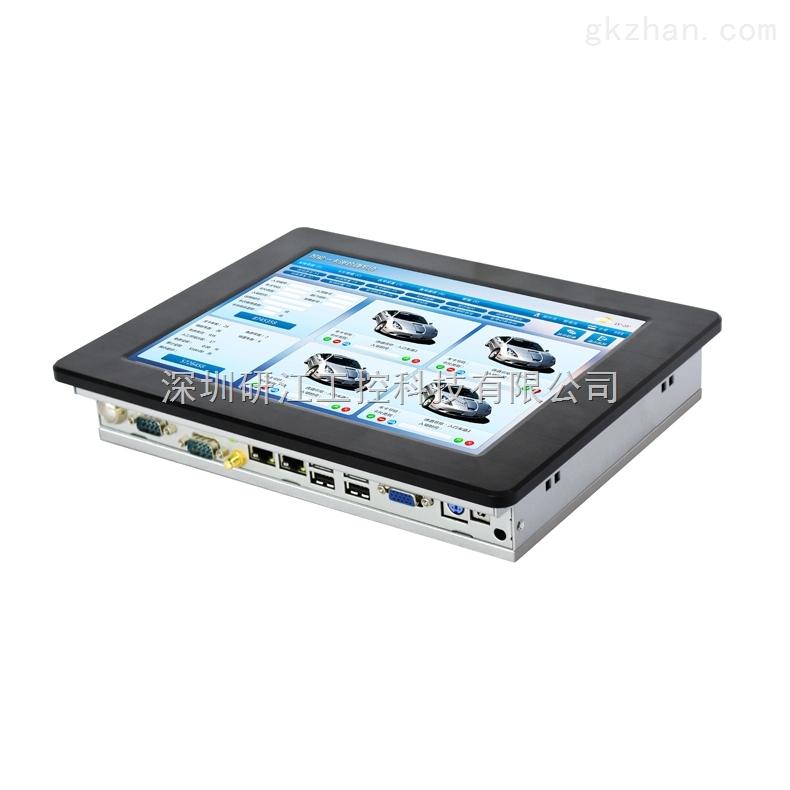 供应10寸工业平板电脑嵌入式工控一体机双网