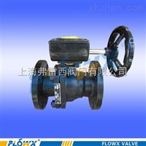 手动碳钢气动三通L型球阀