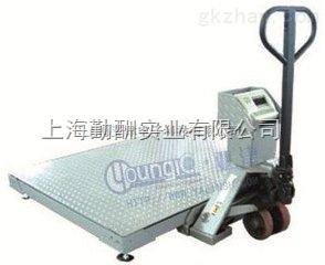 【亚津】2T吨移动式地磅车间称量手推移动式电子地磅秤