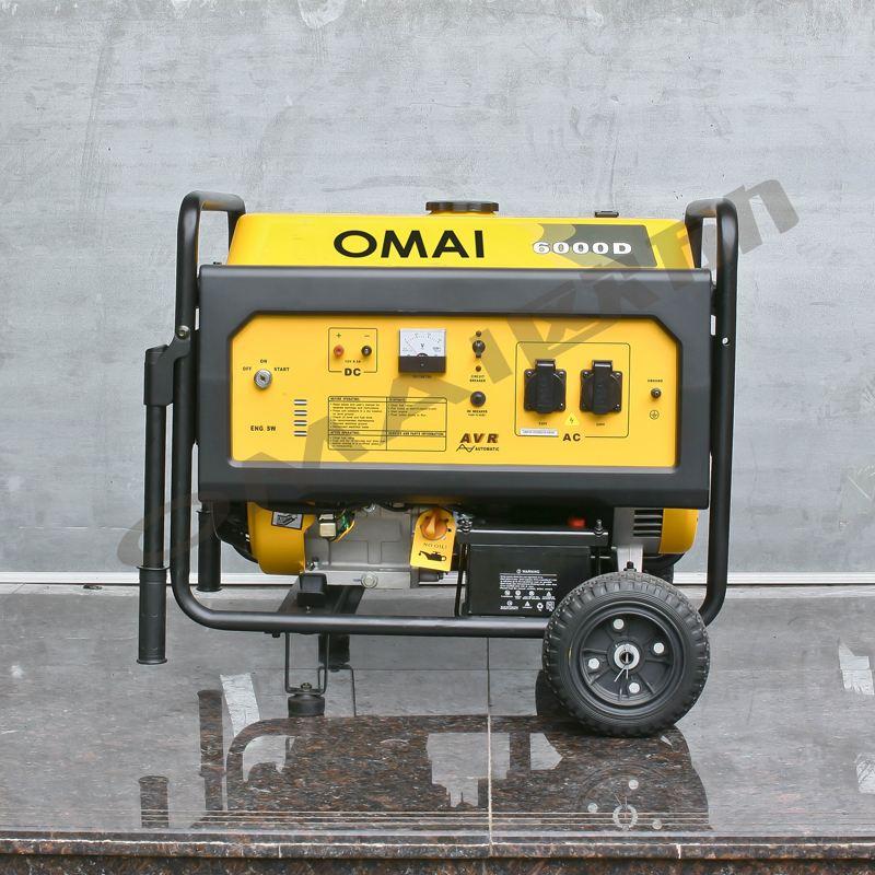 om6000d 小型6kw汽油发电机