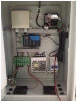3         led顯示屏安裝 將led屏固定在立桿中部,儀器下部適當位置,l圖片